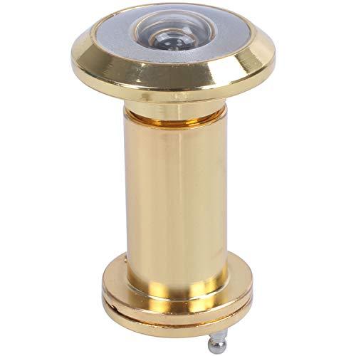 Gesh Mirilla de seguridad retráctil de 200 grados de 36 a 58 mm para puerta con agujero y cubierta, color dorado