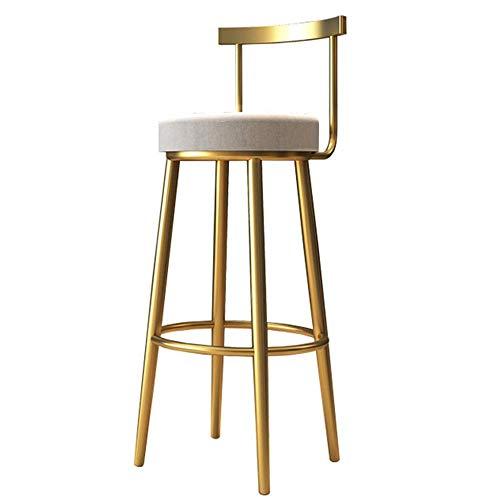 Decoración de muebles Taburete de barra de cocina para desayuno Taburete de bar Sillas modernas con base de metal resistente para mostrador de cocina de desayuno Bistro Taburete alto (Color: Dorado