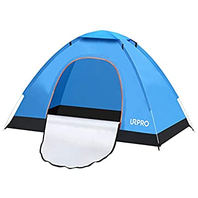 URPRO Instant Automatic pop up Camping Tent, 2 Person Lightweight Tent,Waterproof Windproof, UV Protection, Perfect for Beach, Outdoor, Traveling,Hiking,Camping, Hunting, Fishing, etc