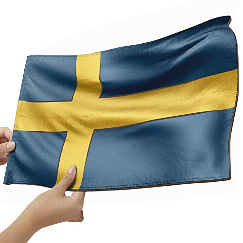 Schweden Flagge als Lampe aus Holz - schenke deine individuelle Schweden Fahne - kreativer Dekoartikel aus Echtholz