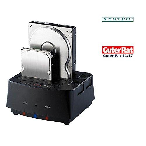 Xystec Festplattendock: USB-3.0-Dockingstation für SATA-Festplatten & -SSDs, mit Klon-Funktion (Klon Festplatten Dock)