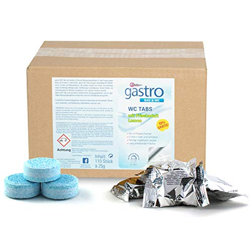 Schillings gastro WC Tabs 110 Stück mit Lemon Duft & 3-Phasen Formel für WC Urinal Bidet & Spülkasten