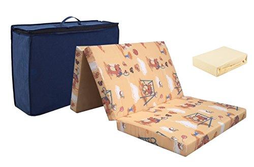 Reismatras van hoogwaardig koudschuim. 60 x 120 + jersey hoeslaken ecru! Schuim reisbed matras opvouwbare matras
