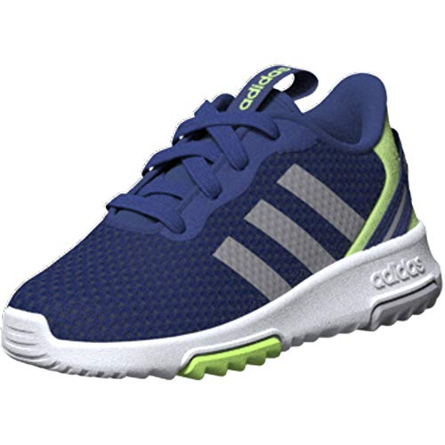 adidas unisex child Racer Tr 2.0 Running Shoe, Royal Blue/Glory Grey/Ink, 1 Little Kid US