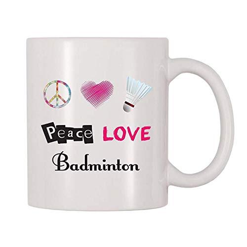 ZHESHIGE Persönlichkeitsbecher Friedensliebes-Badminton-Kaffeetasse Milchschale Inspirierend Das Beste Geschenk