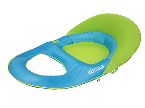 Kelsyus Deluxe Chaise Lounger- Aqua/Lime Green