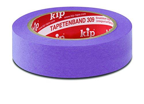 Kip 309 Tapetenband Washi, Farbe: lila - 48 mm x 55 m - 3er Pack