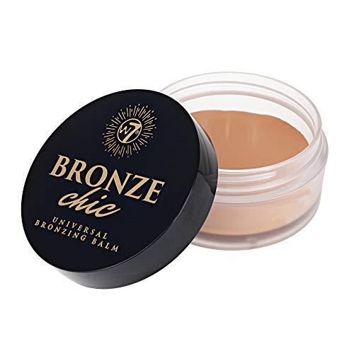 W7 | Bálsamo Bronceador Universal Chic | Fórmula Bronceadora Crema-Gel Mate | Base Bronceadora, de Contorno y de Maquillaje | Maquillaje Facial Libre de Crueldad, Vegano