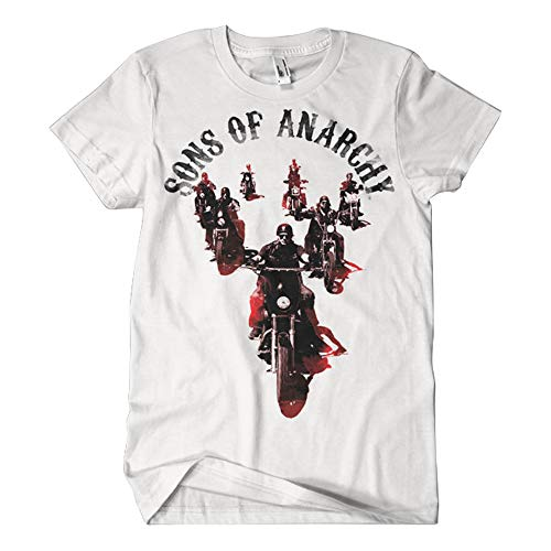 Sons of Anarchy Officiellement Marchandises sous Licence Motorcycle Gang T-Shirt (Blanc), Large