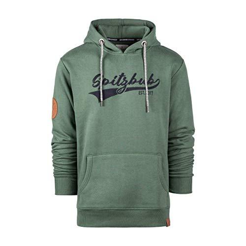 Spitzbub Herren Hoodie Pullover mit Kapuze Kapuzenpullover Sweatshirt Johannes-Gustav, Grün, XL