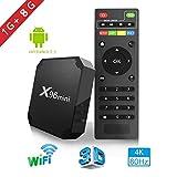 X96mini TV Box Android 7.1.2, 1+8G 4K Boîtier Numérique et Intelligent pour la Télévision CPU Amlogic S905W Quad Core Arm Cortex A53 Connexion Netflix et Youtube Impossible