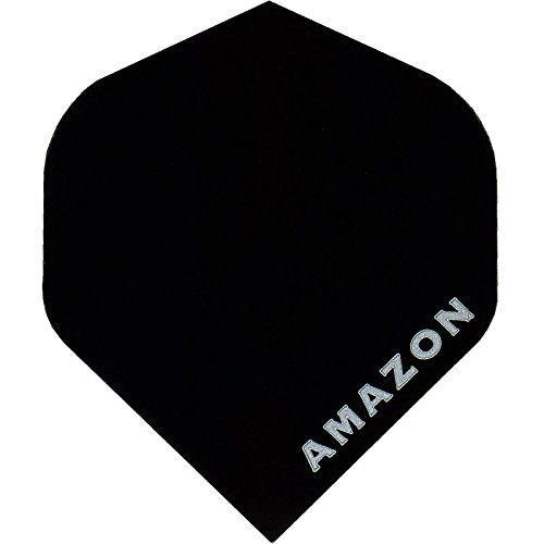 Dart Flights – Designa Amazon – 100 Mikron – STD – schwarz – 10 Sets (30)