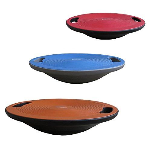 Unibest Balance Board Kreisel Wackelbrett Therapiekreisel mit Griffen mit Durchmesser 40cm - blau