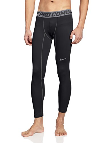 Nike Herren Tights Pro Combat Hyperwarm Compression Lite, Black/Cool Grey, XXL