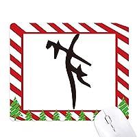 骨の銘は、中国の姓の文字は ゴムクリスマスキャンディマウスパッド