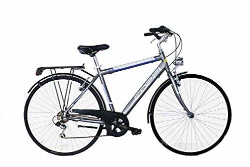 COPPI Liverpool, Bicicletta da Città Uomo, Grigio, M