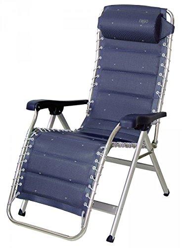 Chaise rembourrée design luxe-sTABIELO-haut réglable avec dossier et taie - 7,5 kg, poids léger en aluminium-chaise-sTABIELO exklusiv-fauteuil à haut dossier couleur-bleu-charge max. : 140 kg-hOLLY sunshade contre supplément disponible avec hOLLY fÄCHERSCHIRMEN-hOLLY ® produits sTABIELO-innovation fabriqué en allemagne