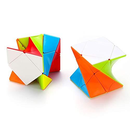 陽光の道 3x3 ゆがみ斜めに転スピードキューブ 3x3 ゆがみ斜めに転マジックキューブ キューブパズル 競技用 立体パズル 知育玩具 ジグソーパズル ツイストパズル 6歳以上適合します