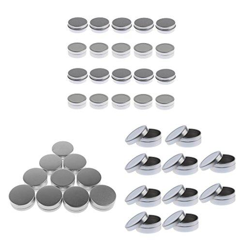 joyMerit 30x10g 20g Crema Cosmética de Aluminio Redonda Envases Vacíos de Bálsamo Labial Tarros Lata