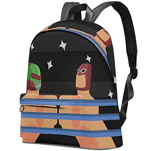 Staroutah zaino bookbag daypack borsa da scuola escursionismo Laptop backpacking Borsa da viaggio all'aperto ad alta capacità e moda Borsa da lavoro Burattino del pollice wrestling