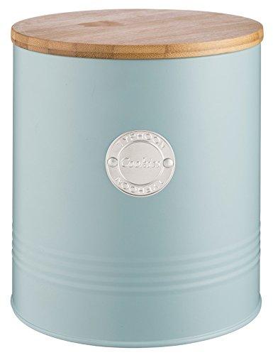 Typhoon Living Collection, Pastellblau, 3,4 Liter Keksdose, Stahl, Holz, Silikon, hellblau