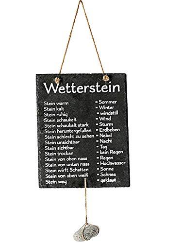 Bada Bing Schiefertafel Wetterstation Mit Stein Zum Hängen Spruch Für Garten Terrasse Balkon Gartenlaube Trend 79