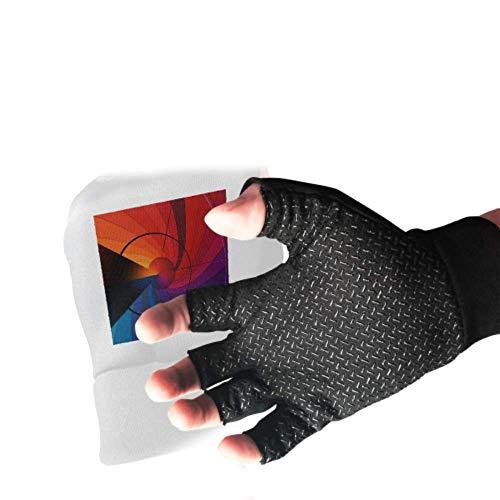 Arrangement Aesthetics Aesthetic Building Nature Fingerless Gloves For Men Anti Slip Shock Gym Gloves For Women Absorbing Padded Breathable Mountain Bike Accessories Split Finger Rowing Gloves For W