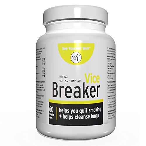 Vice Breaker: Quit Smoking for The Last Time. Works Fast - Stop Smoking Within 30 Days. Or Take with Nicorette, NicoDerm and Other Nicotine Gums, Patches or Lozenges.100% Natural & Herbal (2 Bottles)