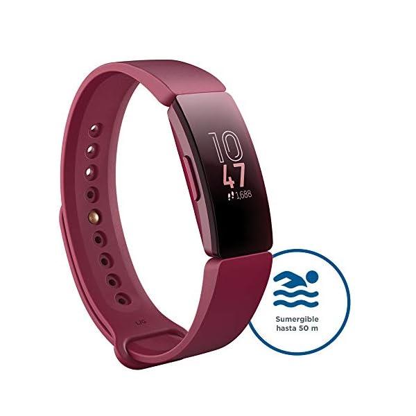 Fitbit Inspire HR, Pulsera de salud y actividad física con ritmo cardiaco, Blanco/Negro 5