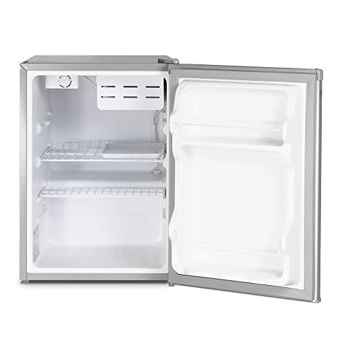 41zTOHGw2rL - Inventor Mini Nevera A+ con Compresor, 66 litros de Capacidad, Color Plata, Silenciosa e ideal para hoteles, estudiantes, dormitorios y pequeños hogares