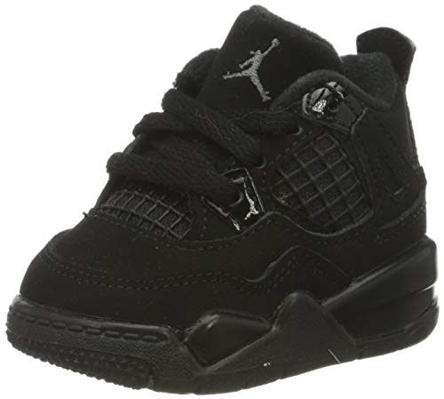 Nike Jordan 4 Retro (TD), Zapatillas de básquetbol, Black Black Lt Graphite, 21 EU