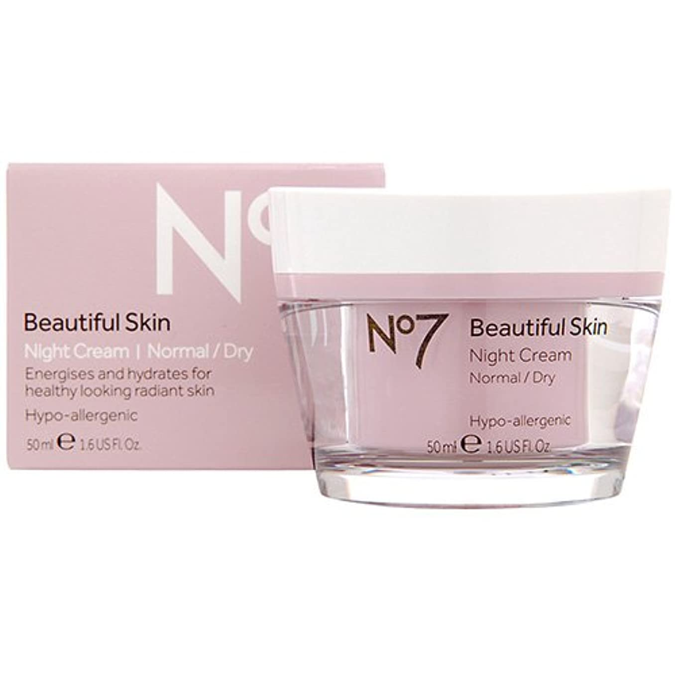 割り当てます教師の日光のNo7 Beautiful Skin Night Cream For Normal / Dry Skin 50Ml by No. 7