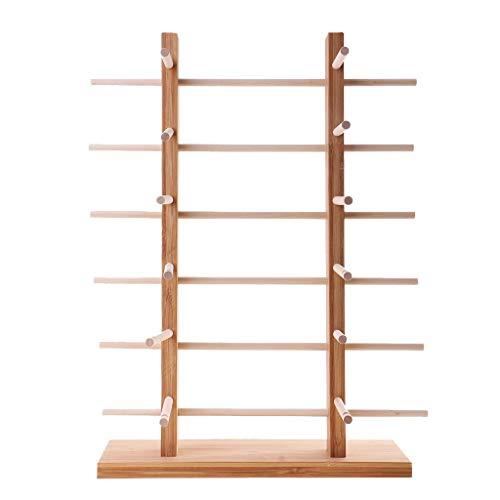 Unlackiertes Holzgestell für Sonnenbrillen, 2-reihig, 3/4/5/6 Ebenen, 6-lagig