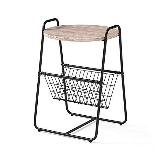 Table basse Side art de fer simple canapé nordique chambre coin quelques (Couleur : B)