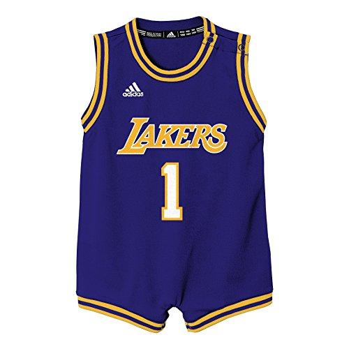 NBA Infant Los Angeles Lakers Russell Replica Road Onesie-Regal Purple-12 Months