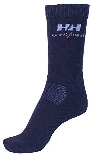 Helly Hansen Workwear 2 Paar Arbeitssocken Vaasa Socks, hochwertige Socken für hohe Belastung, Gr. 36 - 39, schwarz, 75722