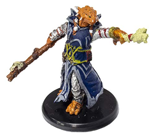 D&D Icons of The Realms: Waterdeep Dragon Heist - Dragonborn Draconic Sorcerer (Blue Robes) #012a