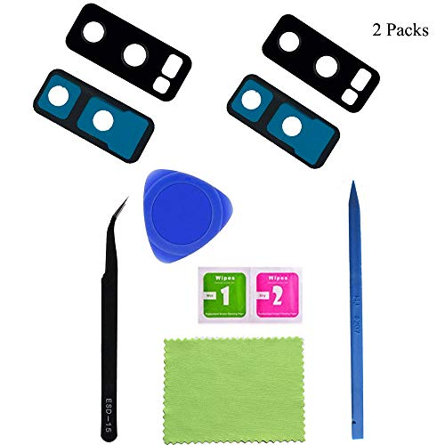 2 Pack Eaglewireless Rear Camera Glass Lens Replacement Parts W/Pre-Cut Glue Tape for Samsung Galaxy Note 8 SM-N950U ++DIY Tool