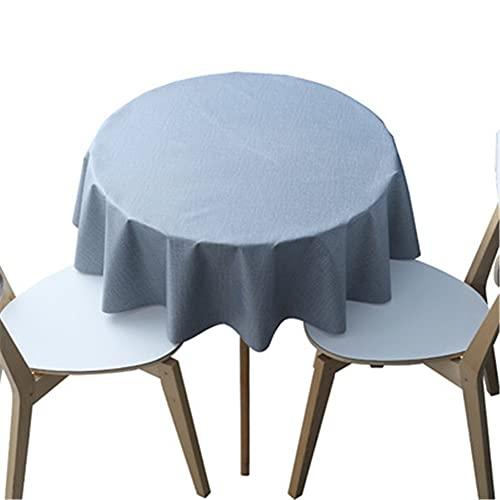 AOTEMAN Paño de mesa redondo de color sólido PVC impermeable y a prueba de aceite Paño de mesa de cocina para cafés restaurante buffet decoración de mesa (A,120 cm)