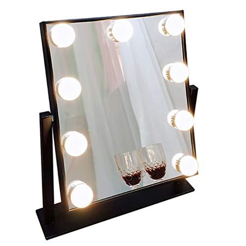 Miroirs de poche Miroir de Maquillage-LED Miroir de Maquillage avec la lumière dortoir de Bureau Habillage Charge Fille beauté miroirs de Bureau avec lumière Haute définition Lampe de Table