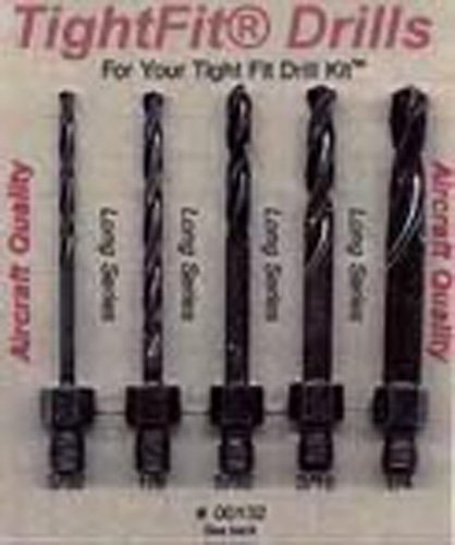 Drill Bits Short Length Threaded Shank, Long Series Drill Bit Set 2 Tight Fit Tools 00132