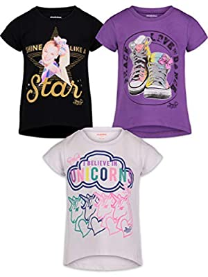 JoJo Siwa Big Girls Fashion 3 Pack T-Shirts 14/16
