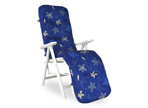 Angerer Coussin pour Chaise 50 x 175 cm, Design Corfou Bleu (sans Chaise)