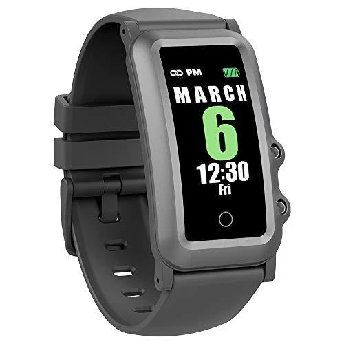 Aupalla Kids Health Watch,monitoraggio del sonno, sport activity e fitness tracker con monitoraggio automatico della frequenza cardiaca, modalità multi-sport, contapassi, contacalorie (Nero)