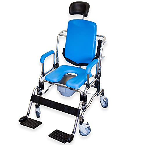 Laguna Professional Reclining Shower Chair, Instutional Quality with Padded Seat, Back, Armrests and Free Bonus Package.