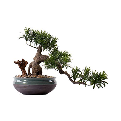 Bonsai Chino joyas artificiales Bonsai artificial cedro, Planta Green Hotel Oficina del Corredor artificial, Planta artificial Árbol Porche Esquina Arte suave del ornamento artificial Árbol bonsái art