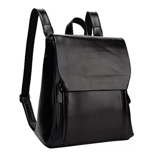 Naerde estilo europeo mochila de moda PU mochila de cuero
