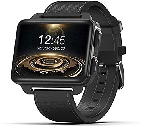 TCHENG 3G Android Smart Watch 1200 MAH Cámara de batería WiFi SIM Hombres SmartWatch Bluetooth Monitor de Ritmo cardíaco Bluetooth Llamadas de Video GPS Muñeca (Color : Black)