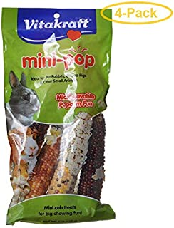 Vitakraft Mini-Pop Small Animal Popcorn Treat 6 oz - Pack of 4