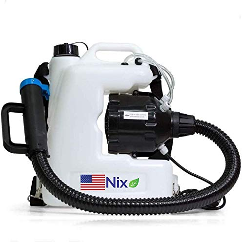 The Nix Co. USA 12L Fogger Machine Disinfectant-110V Backpack Fogger Portable ULV Fogger Electric Atomizer Sprayer, Mosquito, Bug, Flea, Roach, Insect Fogger Indoor Outdoor Sprayer USA Company